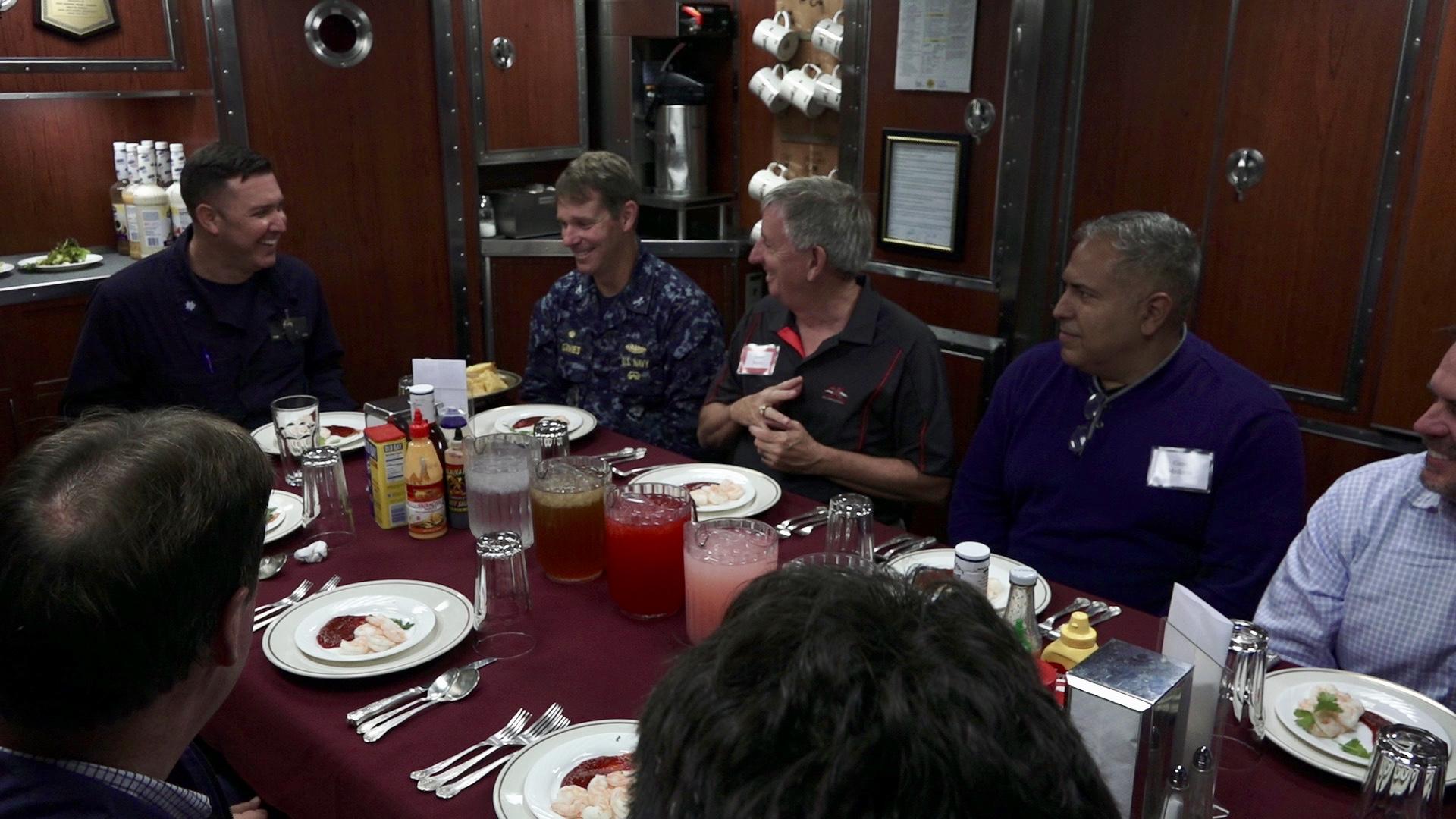 USS Santa Fe Wardroom Lunch