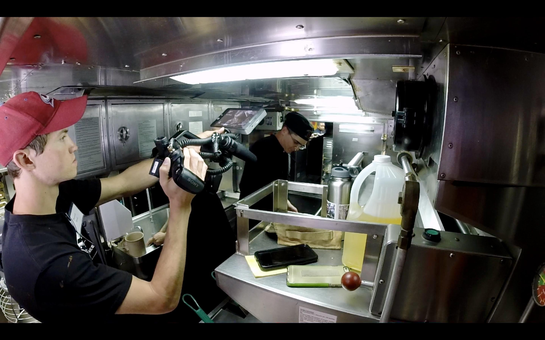 Filming USS Santa Fe galley